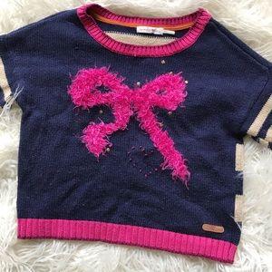 Deux par Deux Navy bow sweater